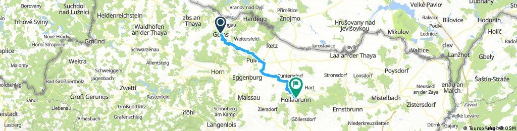 Lange Ausfahrt von Geras nach Hollabrunn