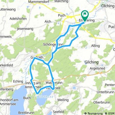 Emmering-Steinebach über Walchstadt und zurück