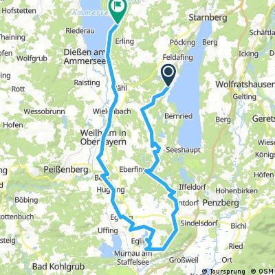 Lange Radrunde von Tutzing nach Herrsching am Ammersee