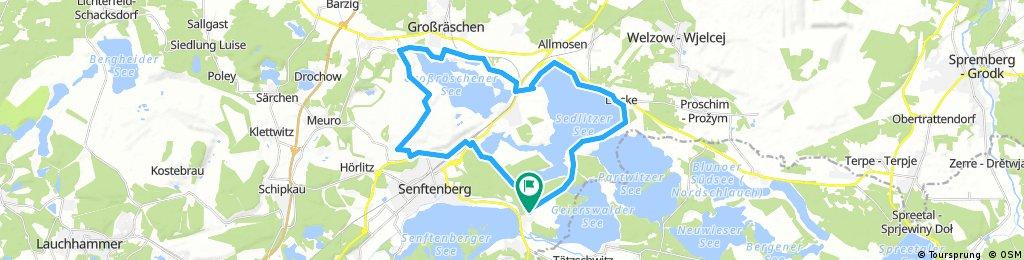 Sedlitzer und Großräschener See