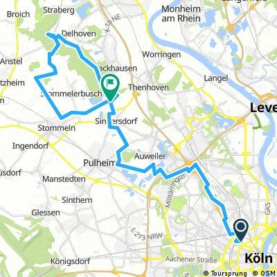 Erlebnisroute Nord - Vom Mediapark zum Kloster Knechtsteden