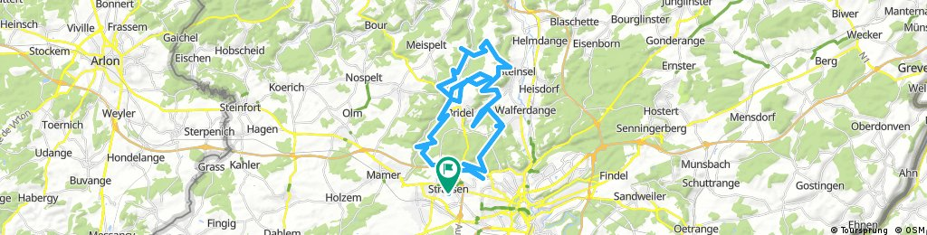 Lengthy bike tour through Strassen