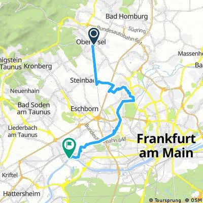 Radrunde von Oberursel (Taunus) nach Frankfurt am Main