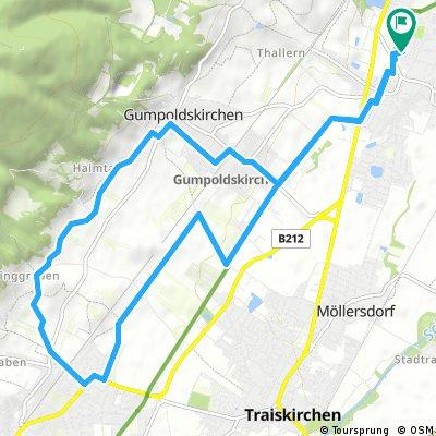 Ausfahrt durch Gemeinde Guntramsdorf