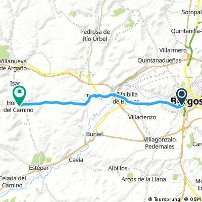 4. Santiago DC bike tour from Burgos to Hornillos