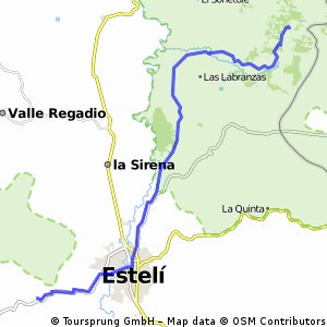 Cycling routes and bike maps in and around Departamento de Estel
