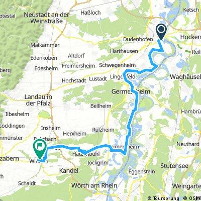 Albert tour Tag 1 nach Winden