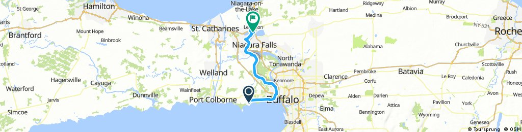 Lengthy bike tour from Crystal Beach, Ontario to Niagara Falls, NY