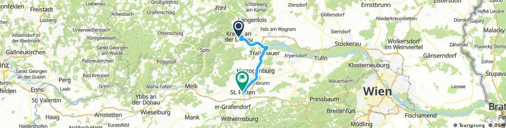 Krems/Donau - Traismauer - Sankt Pölten