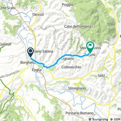 Via Campana dal Tevere ( Ponte Felice) a Tarano