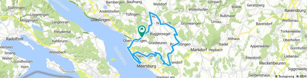 Mühlhofen-Salem-Kapelle Breitenbach-Wallfahrtskirche Baitenhausen-Gehautobel und zurück