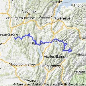 2013-16: Ambérieu-en-Bugey > Ugine (229 km)