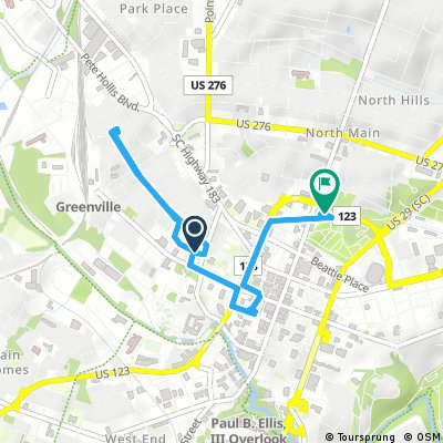 Brief bike tour through Greenville