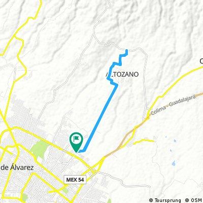 Zentralia-Altozano-Carretera Chiapa