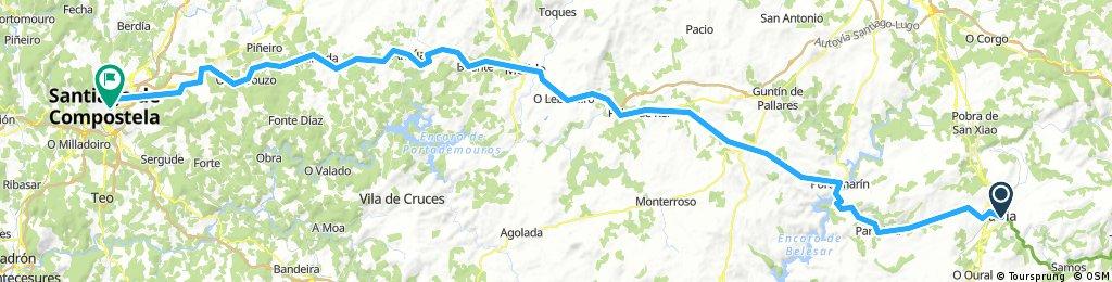 10. Santiago DC bike tour from Sarria to Arzua and to SDC