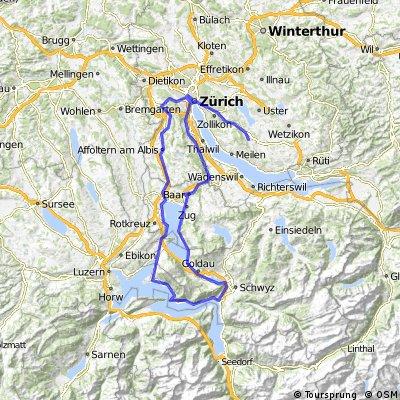Zürich- Egg via Vierwaldstättersee