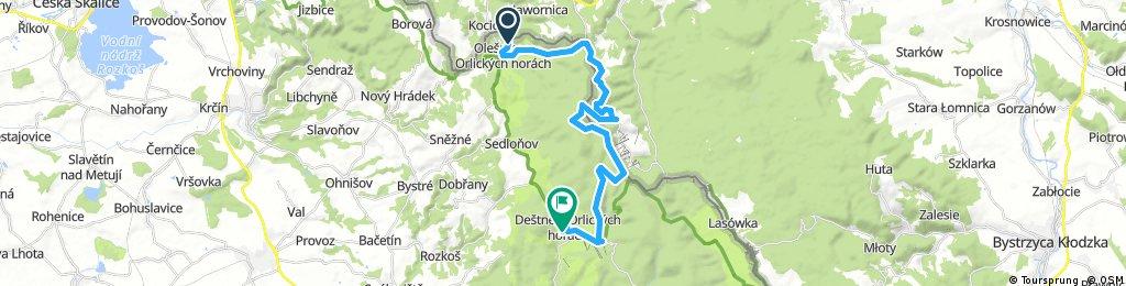 Olešnice v Orlických horách - Číhalka - Vrchmezí - Šerlich - Deštné v Orlických horách (pěší Podzim 2016, Den 4. z 5)