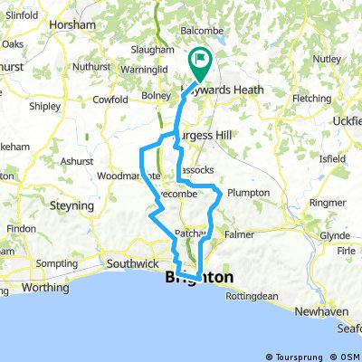 Cuckfield to Brighton, Hove and back
