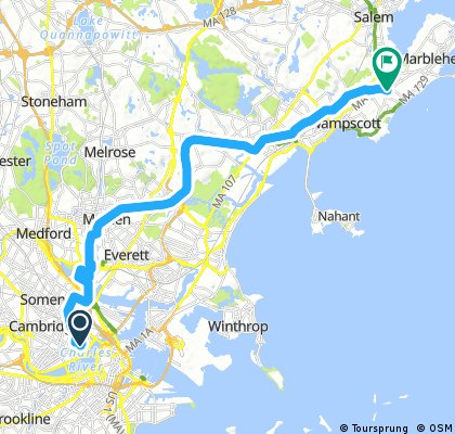 Cambridge to Marblehead via Assembly Square and Northern Strand
