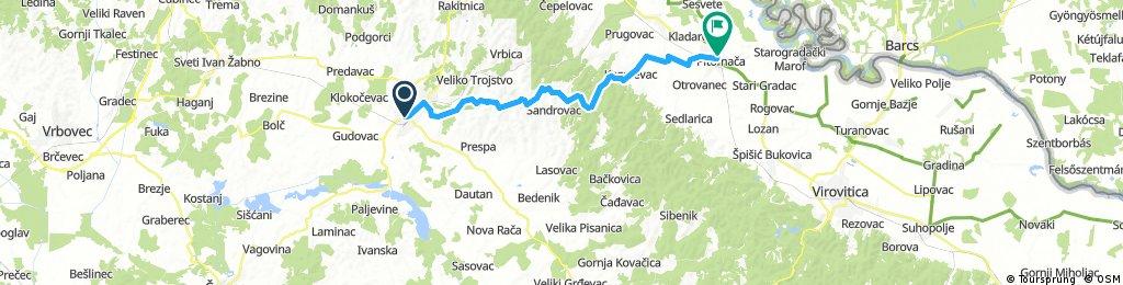 Pitomaca-Bjelovar via Velika Pisanica