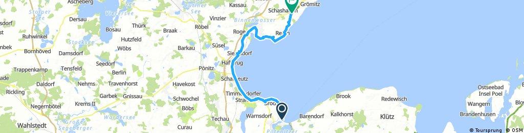 Lübecker Bucht von Travemünde nach Schashagen
