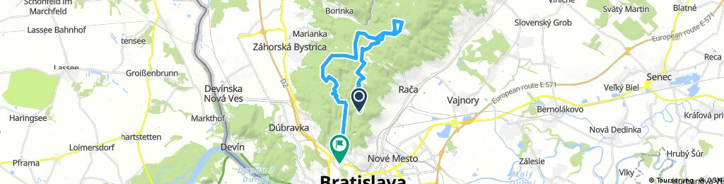 bike tour through Bratislava