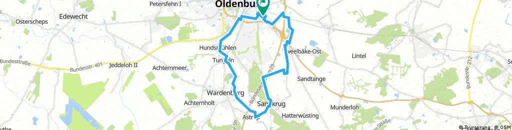 Oldenburg Astrup Sandkrug Bummerstede Bikemap Your Bike