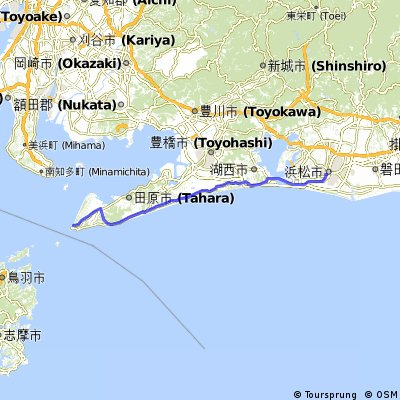Cycling routes and bike maps in and around Hamamatsu Bikemap