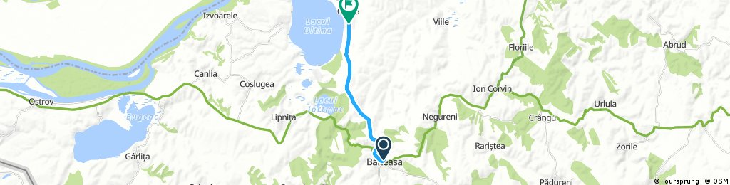 ride from Băneasa to Oltina