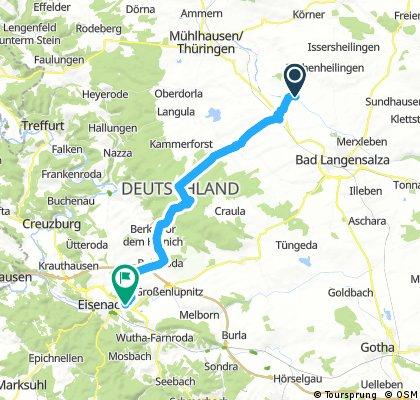 Strecke Nr 4 Altengottern-Eisenach
