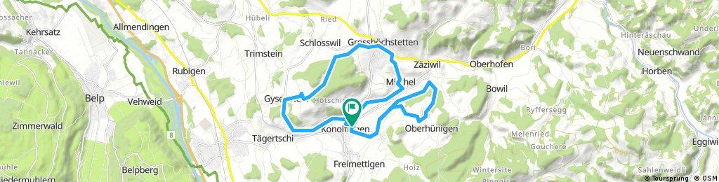 Ride through Konolfingen