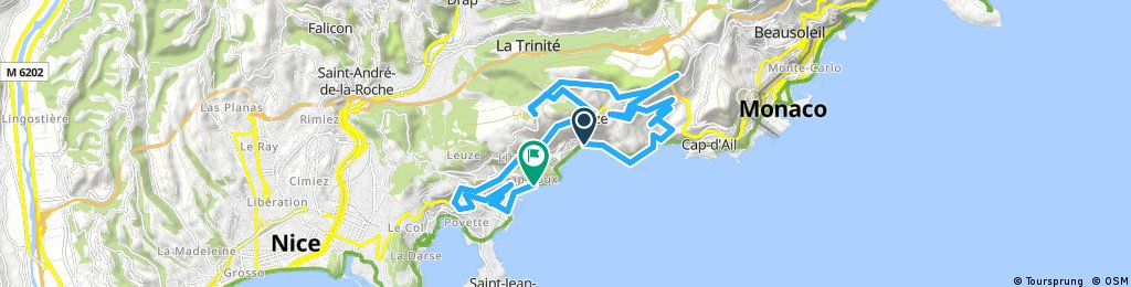 ride from Eze to Villefranche-sur-Mer