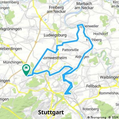 Rundtour Korntal-LB-Cannstatt-Korntal