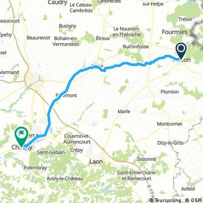 6. Etappe Hirson-Chauny