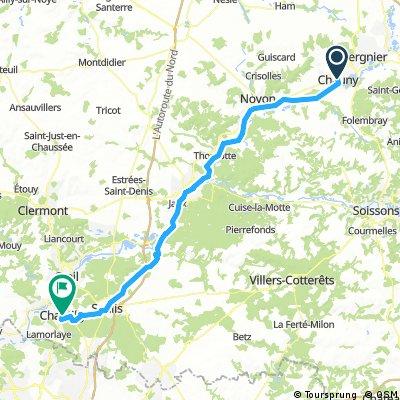 7. Etappe Chauny-Chantilly