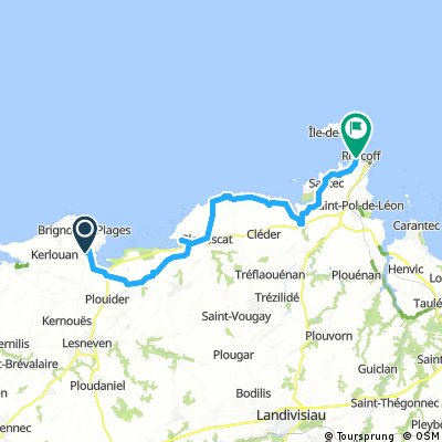 Roscoff 1    36 km