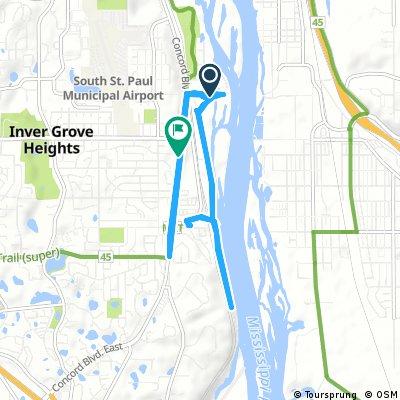 bike tour through Inver Grove Heights