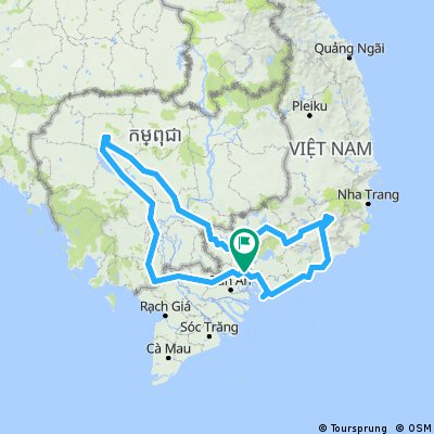 South Vietnam - Cambodia - South Vietnam