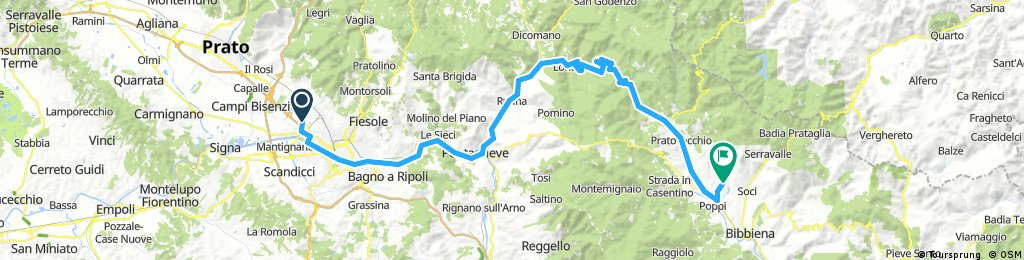 Dag 1 Vliegveld Florence - Poppi Camping La Pineta