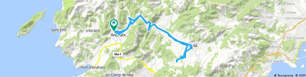 Lengthy bike tour through Andratx