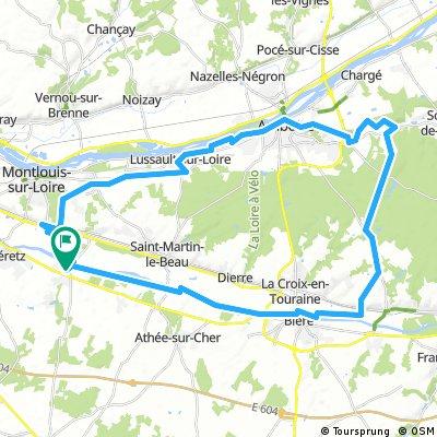 LA LOIRE : DU CHER A LA LOIRE 50 KM