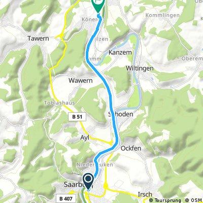 Ausfahrt von Saarburg nach Konz