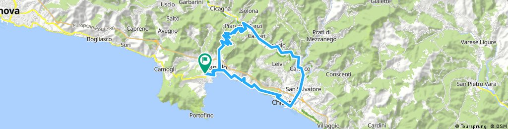 Long bike tour through Rapallo