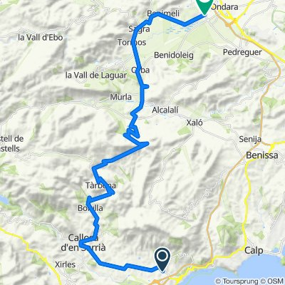 Ruta 03: Altea-Tarbena-Col Rates-Orba-Beniarbeig