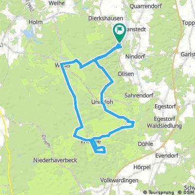 Lange Ausfahrt durch Hanstedt