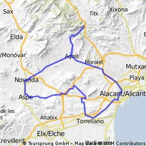 AlicanteAlbateraHondon de los FrailesNoveldaAgostSan Vicente