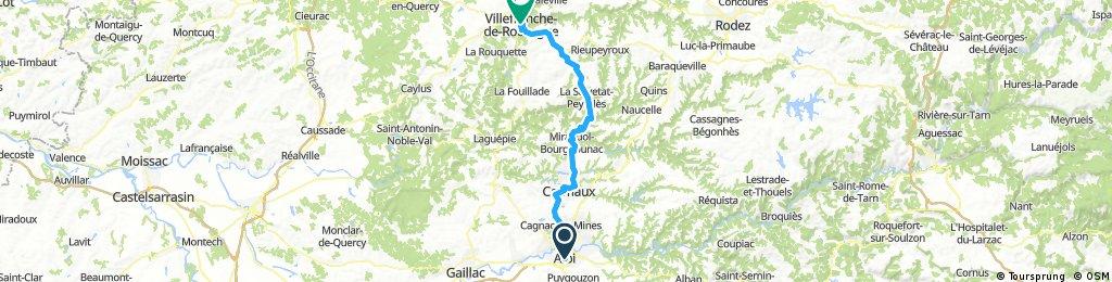 2016 Ride Day 167 - Albi to Villefranche-de-Rouergue