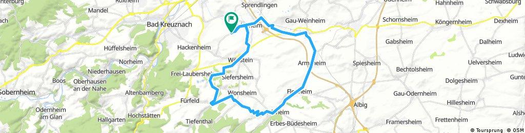 Pleitersheim, Wallertheim, Wendelsheim, Neu Bamberg, Pleitersheim, 39,24 KM