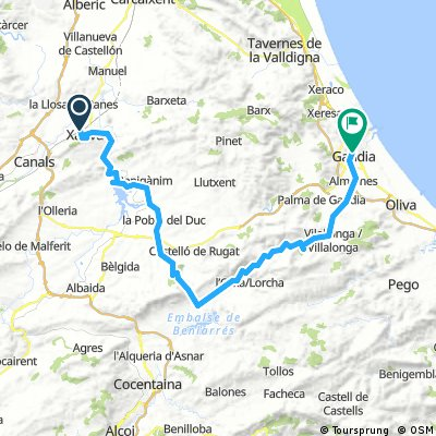 Map Of Xativa Spain.Cycling Routes And Bike Maps In And Around Xativa Bikemap Your