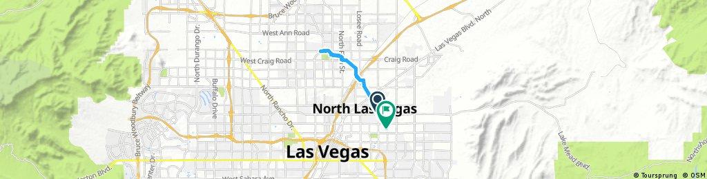 ride from North Las Vegas to Las Vegas